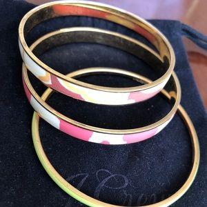 3 J. Crew bangles (bracelets)